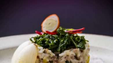 Photo of Risoto de codorna com leite de coco