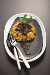 risotto alla milanese com ragú de rabada _ Zucco