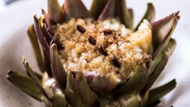Photo of Risoto de carnaroli e quinoa em flor de alcachofra, mascarpone e café