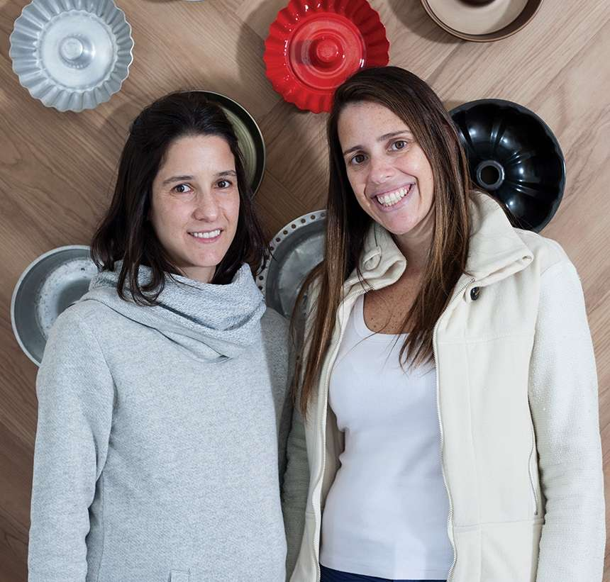 Daniela e Fernanda, sócias na Fôrma de Pudim