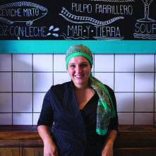 A chef peruana Marisabel Woodman  está acostumada a usar avocado em vez  de abacate