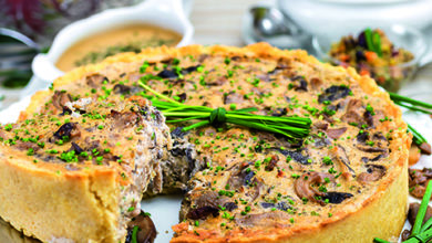 Photo of Quiche de três cogumelos à provençal