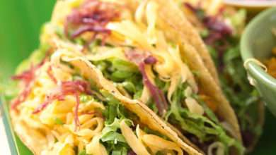 Photo of Taco com carne seca e purê de abóbora