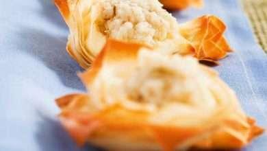Photo of Cestinhas de massa fillo com cream cheese e pasta de alcachofra