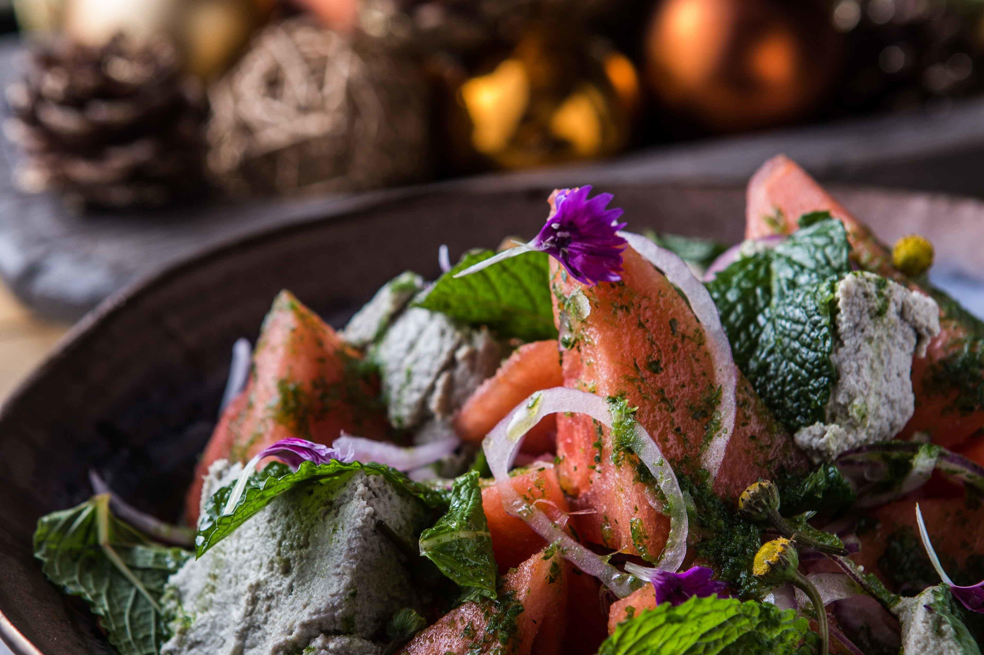 Photo of Salada grega de queijo de sementes com melancia