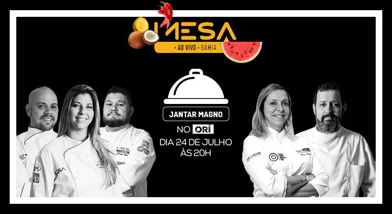 Restaurante ORÍ - Dia 24 de Julho, às 20h