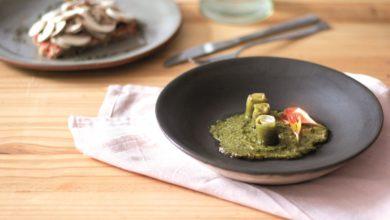 Photo of Rondelli de berinjela com creme de ricota caseiro e molho pesto