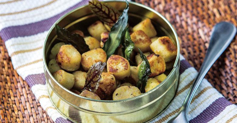 Nhoque de batata-doce tostado