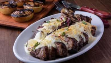 Photo of Porterhouse gratinado