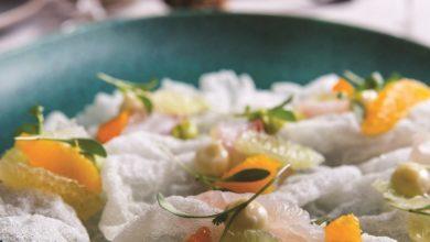 Photo of Crocante de arroz,peixe defumado no matee cítricos