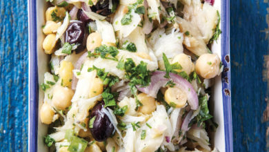 Photo of Salada de bacalhau com grão-de-bico