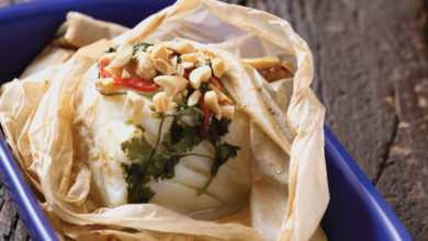 Photo of Papillote de bacalhau no leite de coco