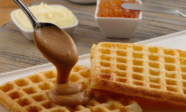 Waffle de pão de queijo da Formaggio Mineiro. Foto: Leila Peres.