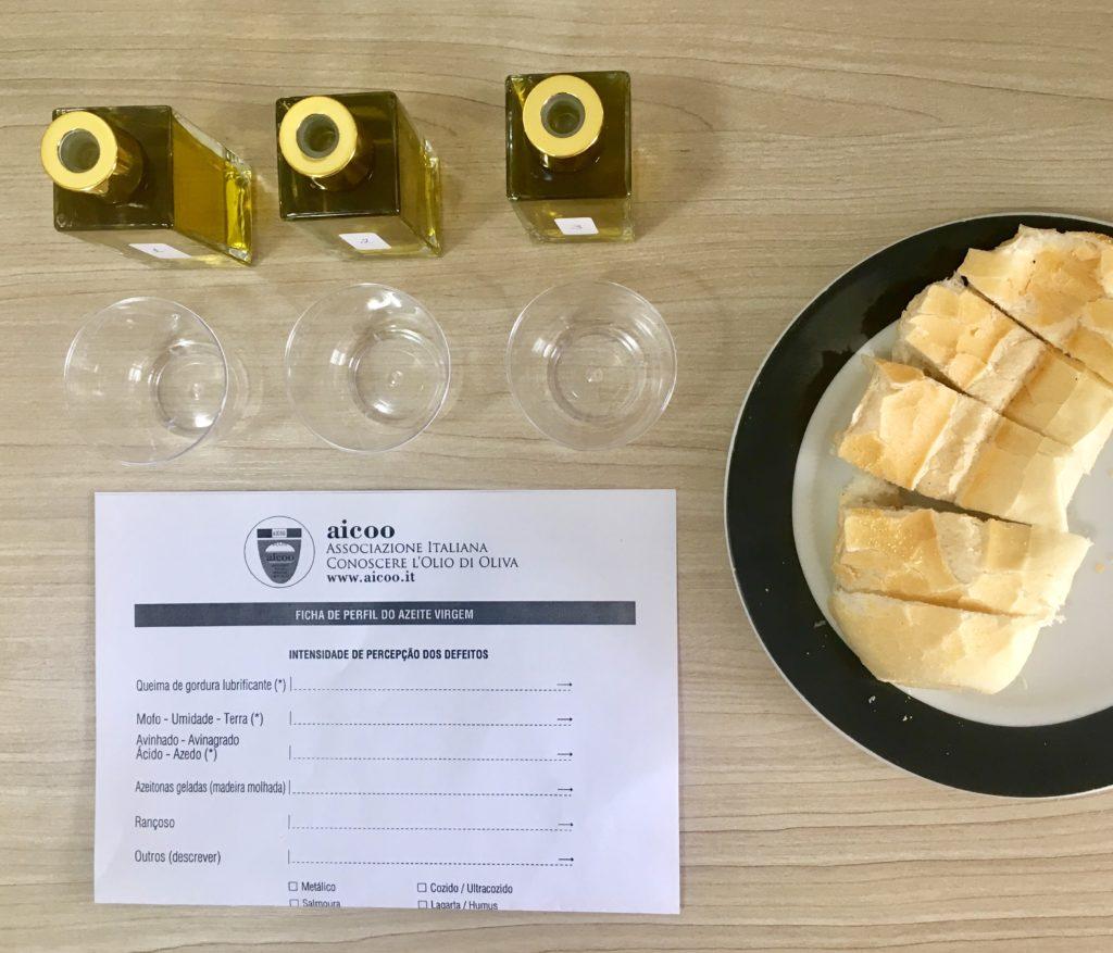 Degustação de azeites promovida pela Italcam (Câmara Ítalo-brasileira de Comércio, Indústria e Agricultura de São Paulo)